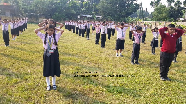 Morning Assembly Free Hand Excercise For all Day II 26-11-2019